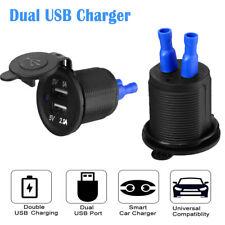 12V Car Cigarette Lighter Dual USB Socket Splitter Charger Power Adapter Outlets