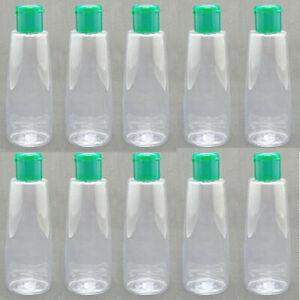 20 x 0.85 oz Bottles Flat Plastic Flip-Top Refill Travel No-Leak 25ML)