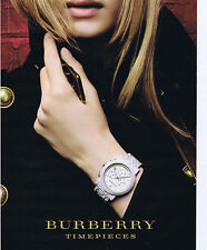 PUBLICITE ADVERTISING 094 2010 BURBERRY timepièce montre