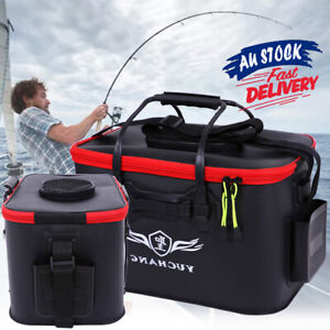 Fishing Boxes Fish Box Live Bait Storage Bucket Medium large EVC Folding ACB#
