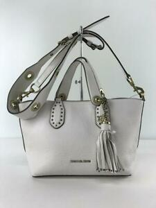 Michael Kors Brooklyn Leather 30H8Bbnt1L Leather White Fashion Bag From Japan