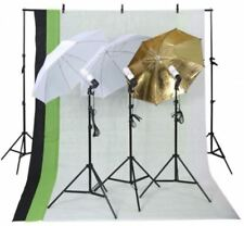 Photo Studio Light Photography Kit Set Lighting Stand Backdrop Umbrella Softbox