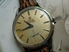 Fully SIGNED Vintage 1948 S/S Men's Omega 15 Jewel Cal. 265 Watch 35.8 mm Runs