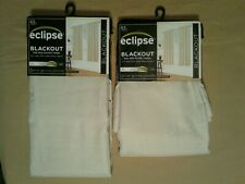 "Eclipse Thermaback Blackout Curtain Panel Khaki   Set of 2   42"" x 63""  NEW"