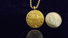 bling gold plated lucky NUGGET 1980 KRUGERRAND coin charm chain necklace hip hop