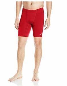 ASICS Men's Enduro Shorts, Red/White, X-Large