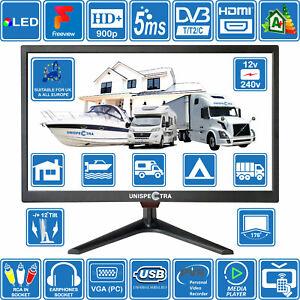 "19"" Inch 12V / 240V HD+ LED Digital Freeview TV MOTORHOME CARAVAN BOAT USB PVR"