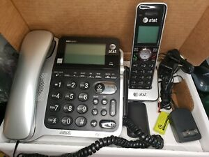 AT&T CL84202 Corded Cordless Phone Large Display Caller ID Announce