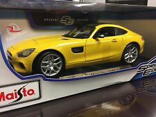 Maisto 1:18 Special Edition Diecast Model Car - Mercedes AMG GT (Yellow)