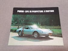 Vintage Puma GTE Brochure Life In Perpetual E Motion
