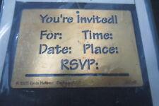 brass embossing stencil invitation  hallinan