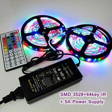 10M 3528 RGB 600 LED Light Strip Lamp+IR 44key Remote + 5A Power Supply