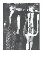 ROLLING STONES Brian & Anita as Sonny & Cher magazine PHOTO/clipping 10x8 inches