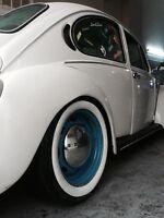 "ATLAS 15"" White Wall Portawall Rubber ring insert trim 4pcs. VW BUG PRE BEETLE"