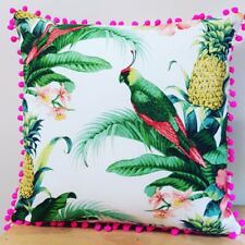 Tommy Bahama Tropical 45cm Indoor/outdoor Cushion Cover with Pom Poms