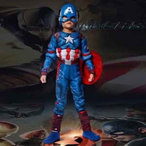 CK706 Avengers Captain America Super Hero Fancy Boys Kids Child Costume Outfit