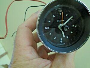 classic Car Kienzle 12V Time Clock white hands Mini BMW Triumph Mk1 Escort Ford