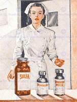 ADVERT NURSE DRUGS MEDICINE PENICILLIN MEDICAL HOSPITAL ART PRINT POSTER CC489