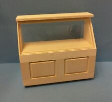 Dollhouse mini 1:12  wood & plexiglass Handcrafted panel Display store counter