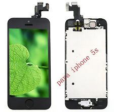 Para iPhone 5S Negro Frontal LCD y Pantalla Táctil Display Home Button Camera