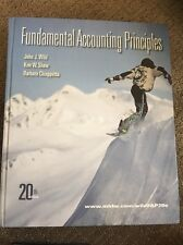 Fundamental Accounting Principles Hardcover 20th Edition Wild Shaw Chiappetta
