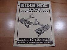 Bush Hog Landscape Rake Operators manual models LLR MLR