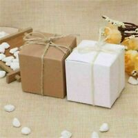 Kraft Paper Square Chocolate Candy Gift Boxes Wedding Party H8E9 N4C3 K1W8