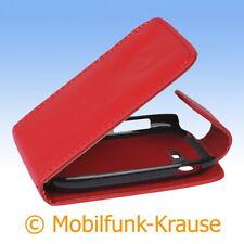 Flip Case Etui Handytasche Tasche Hülle f. Samsung Galaxy Pocket Neo Duos (Rot)
