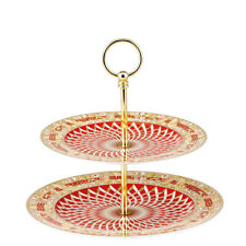 """VERSACE BY ROSENTHAL, GERMANY  """"BRIGHT CHRISTMAS"""" 2 TIERS ETAGERE. STUNNING!."""