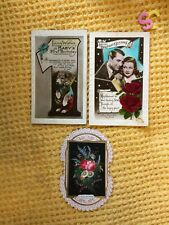 More details for 3 original beautiful antique birthday and christmas cards cary grant