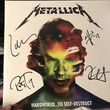 Metallica Signed Hardwired .Lp By All 4! In Person With Proof!