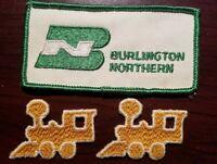 Lot of Vintage Train Railroad Patches / Burlington Northern