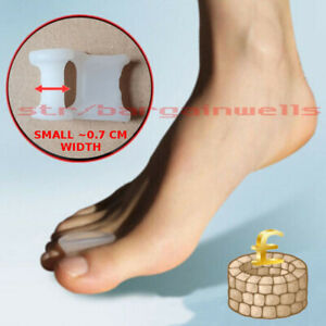 SMALL Toe Spreader Bunion Gel Straightener Separator Corrector Silicone Protecto