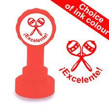 ¡Excelente! - Spanish Language Teacher Self-Inking Stamp. 22mm, Reinkable Xclama