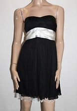 Free Fusion Designer Black Cream Mesh Lace Prom Dress Size 14 BNWT #TF60