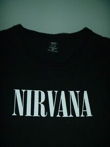 #9575 NIRVANA Black T Shirt Size Medium