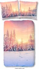 2tlg.Renforcé Bettwäsche Winter Wald 100%Baumwolle 135cmx200cm 80cmx80cm