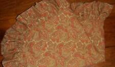Ralph Lauren Jesse Paisley 1 Standard Ruffled Pillow Sham Maura Euc Jessie