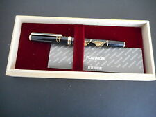 VINTAGE PILOT ENGRAVED/LACQUER/GOLD TRIM PLATINUM FOUNTAIN PEN CALLIGRAPHY 18K