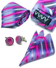 "New ""VYNY"" JACQUARD WOVEN Men's Neckties Tie+Hanky+Cufflinks Sets (VS139)"