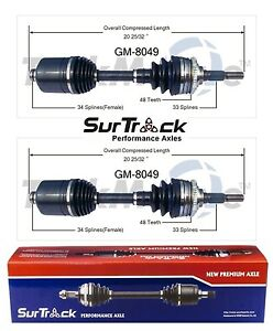 For Pontiac Sunfire Chevrolet Cavalier FWD Set of Front CV Axle Shafts SurTrack