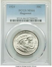 New listing 1924 Huguenot Pcgs Ms-66 - Silver Classic Commemorative - Nice White - dsx