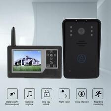 "Videocitofono Kit IR Telecamera Wireless Senza Fili Campanello Monitor 3.5"" LCD."
