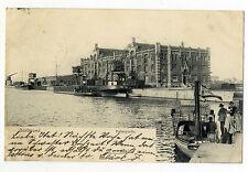AK Dortmund Hafenpatie Dampfschiff Flagge 1902