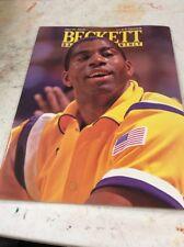 Beckett Basketball Magazine Price Guide August 1991 Magic Johnson