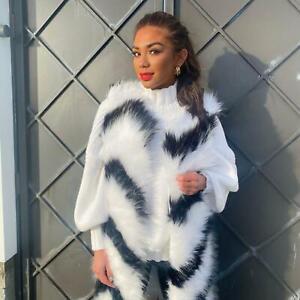 Women Faux Fur Gilet Sleeveless Jacket Coat Warmer Body Waistcoat Outwear Vest 2