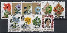 Aitutaki Cook Islands 1972 Flowers Set SG49/58 MNH J5286