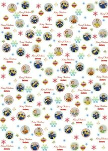 Personalised Fireman Sam Christmas Wrapping Paper