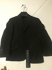 Rockstar 2 Piece size 4-5 Dress Suit For Boys Black Pants And Jacket NWT