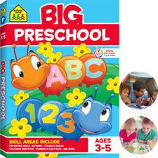 Big Preschool Workbook Colors Shapes Numbers School Zone Toddlers Book Worksheet